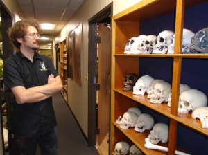 BJ and Skulls - Photo by Lisa Morton